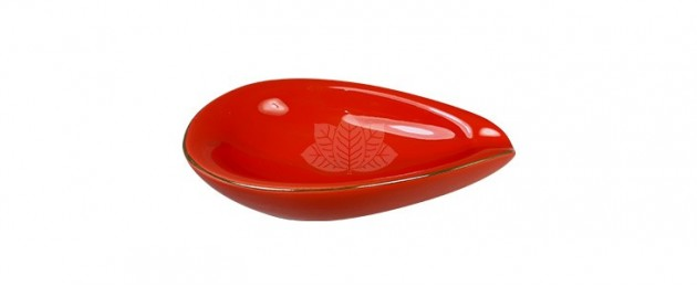 Ashtray Adorini Leaf Red